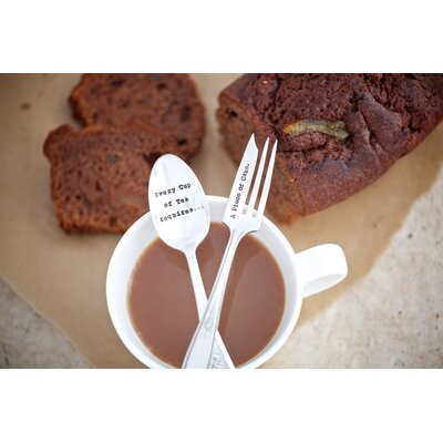 Ladeda! Living Every Cup of Tea Requiers A Piece of Cake 2-Piece Cutlery Set