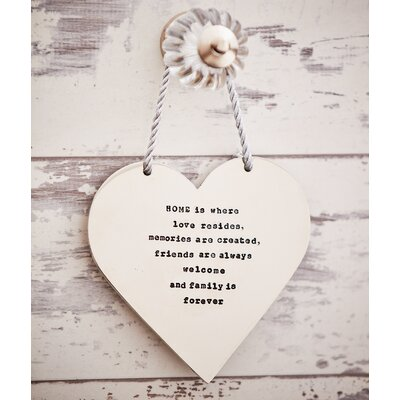 Ladeda! Living Loveheart Home is Where Love Resides, Memories are Created, Friends are Always Welcome and Family is Forever Wall Decor