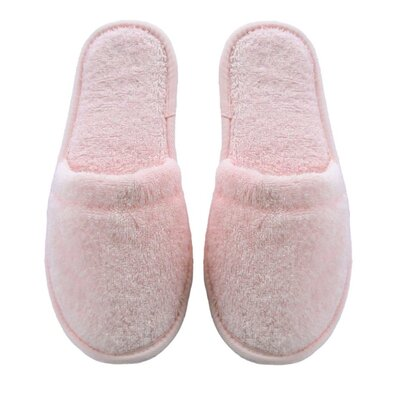 Women's Turkish Terry Cotton Cloth Bath Slippers Color: Pink