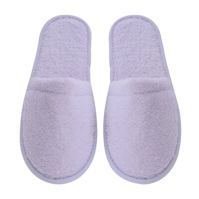 Women's Turkish Terry Cotton Cloth Bath Slippers Color: Lilac