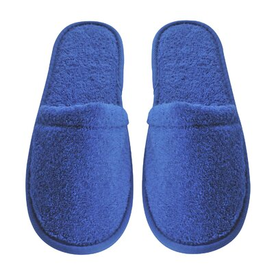 Women's Turkish Terry Cotton Cloth Bath Slippers Color: Royal Blue