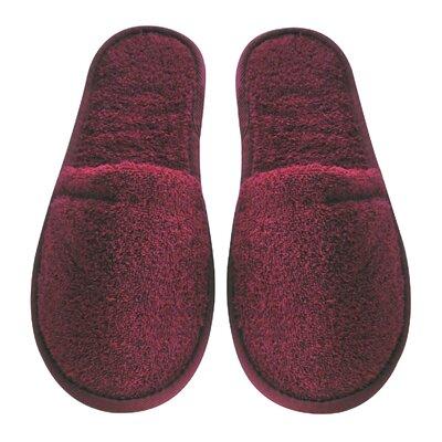 Men's Turkish Terry Cotton Cloth Bath Slippers Color: Burgundy