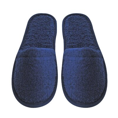 Women's Turkish Terry Cotton Cloth Bath Slippers Color: Navy Blue