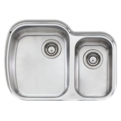 "Adelaide 27.63"" L x 19.75"" W Compact Double Bowl Kitchen Sink"