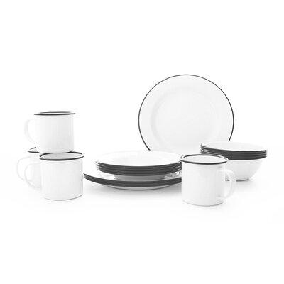 Starter 16 Piece Dinnerware Set, Service for 4 Color: Grey