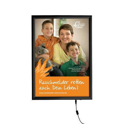 Smart LED Poster Box Size: 18'x 24', Color: Silver