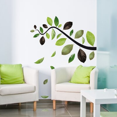 Crearreda Home Decor Line Leaves Wall Sticker