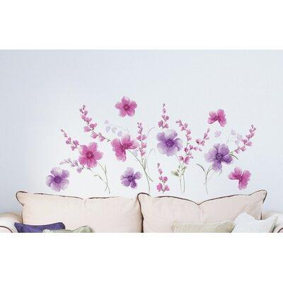 Crearreda Home Decor Line Flowers Wall Sticker