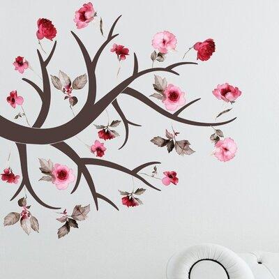 Crearreda Home Decor Line Flowering Branch Wall Sticker