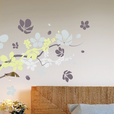 Crearreda Home Decor Line Branches and Flowers Wall Sticker