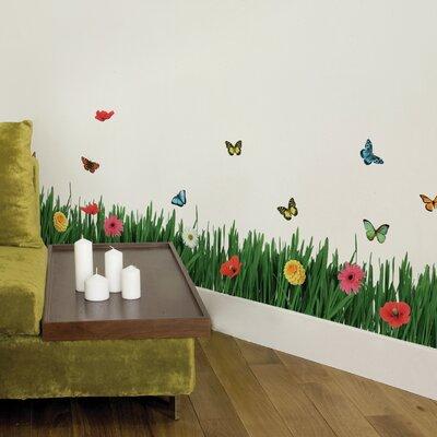 Crearreda Home Decor Line Grass Wall Sticker
