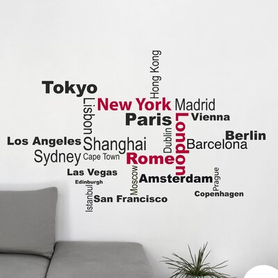Crearreda Home Decor Line Cities Wall Sticker
