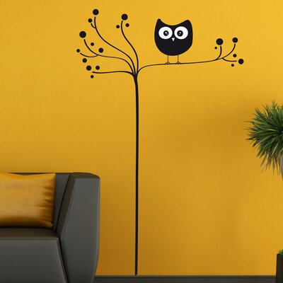 Crearreda Home Decor Line Owl On Tree Wall Sticker