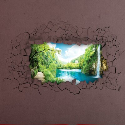 Crearreda Home Decor Line Waterfall Wall Sticker