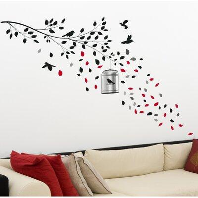 Crearreda Home Decor Line Cage Wall Sticker