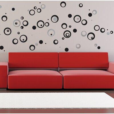 Crearreda Home Decor Line Circles Wall Sticker