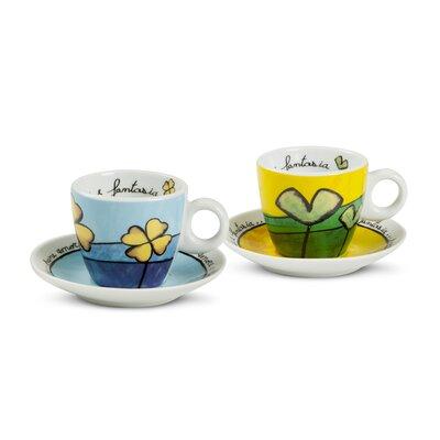 Egan Pane Amore E Fantasia 4 Piece Coffee Cup Set