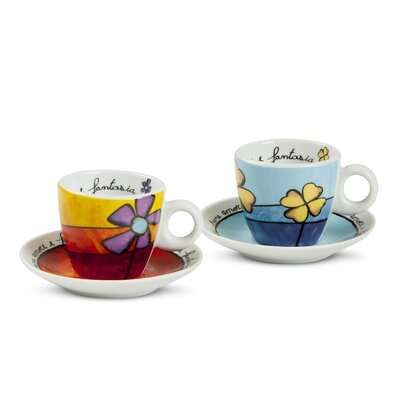 Egan Pane Amore E Fantasia 4 Piece Coffee Cup Set