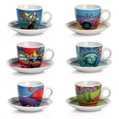 Egan Icalistini 12 Piece Coffee Cup with Saucer Set