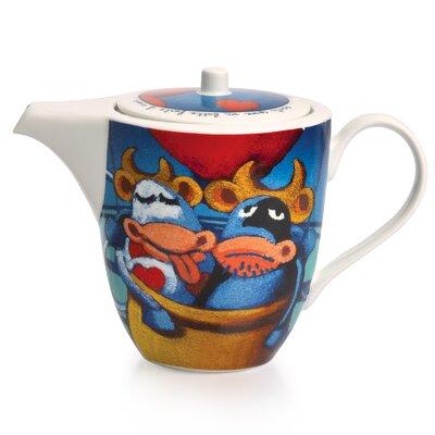 Egan 0.4L Porcelain Heart Teapot