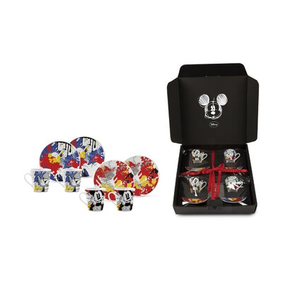Egan 8 Piece Mickey and Donald Espresso Cup with Plate Set