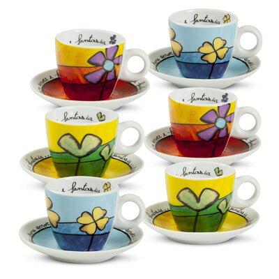 Egan Pane Amore E Fantasia 12 Piece Coffee Cup Set