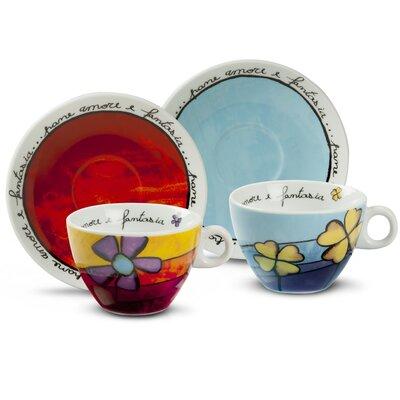 Egan Pane Amore E Fantasia 4 Piece Cappuccino Cup Set