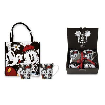 Egan 3 Piece Mickey and Minnie Mug with Tote Bag Set