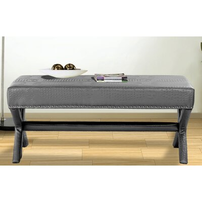 Neil Upholstered Bench Upholstery Color: Silver