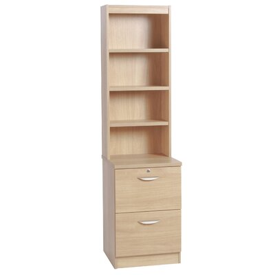 Home Office UK 2-Drawer Filing Cabinet with Hutch