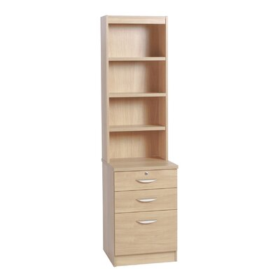 Home Office UK 3-Drawer Filing Cabinet with Hutch