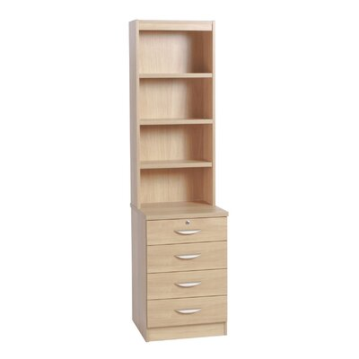 Home Office UK 4-Drawer Storage Cabinet with Hutch