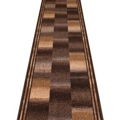 Carpet Runners UK Ikat Brown Area Rug