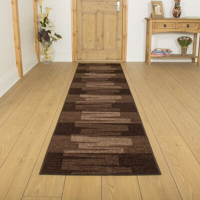 Carpet Runners UK Via Veneto Brown Area Rug