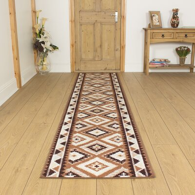 Carpet Runners UK Ethnic Brown Area Rug