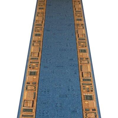 Carpet Runners UK Jena Blue Area Rug