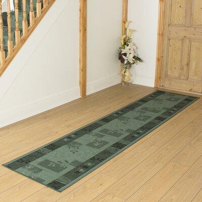 Carpet Runners UK Agadir Green Area Rug