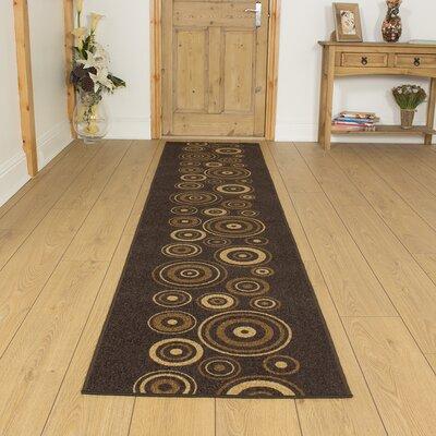 Carpet Runners UK La Rambla Dark Brown Area Rug