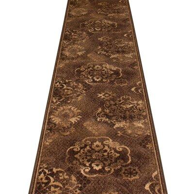 Carpet Runners UK Pallas Dark Brown Area Rug