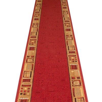 Carpet Runners UK Jena Red Area Rug