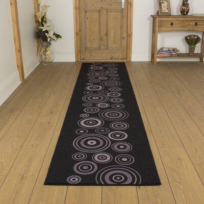 Carpet Runners UK La Rambla Black Area Rug