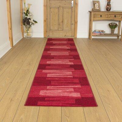 Carpet Runners UK Via Veneto Red Area Rug