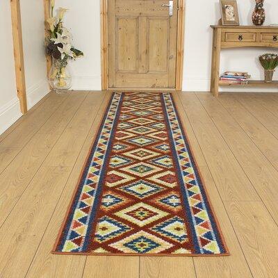 Carpet Runners UK Ethnic Rust Area Rug