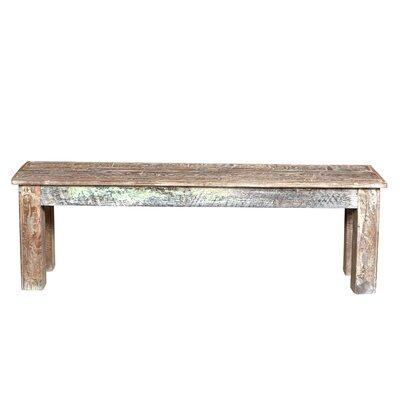 """Desirae Wood Bench Size: 18"""" H x 58"""" W x 16"""" D"""