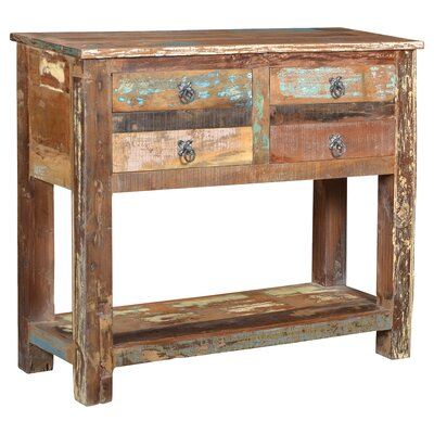 Desirae 4 Drawer Console Table
