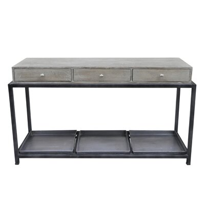 Morrissey-Bickerton Box Metal Console Table with Storage