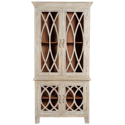 Pinner Glass Tall 4 Door Accent Cabinet Color: Gray
