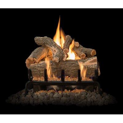 "Arizona Weathered Oak Gas Log Set Burner Size: 21"" W"
