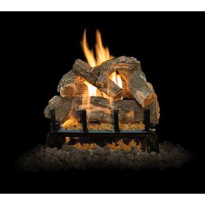 "Arizona Weathered Oak Gas Log Set Burner Size: 18"" W"