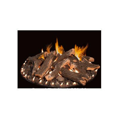 "Stainless Steel Gas Fire Ring Size: 12"" H x 24"" W x 24"" D"